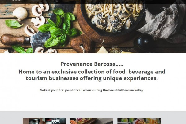 New Provenance Barossa Website